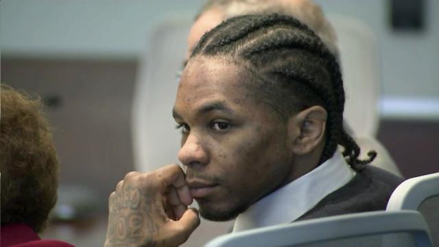 Laurence Lovette, on trial for first-degree murder in the 2008 shooting death of Abhijit Mahato, listens to testimony on July 22, 2014.