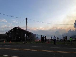 Woods Worth Baptist Church in Henderson caught fire Tuesday evening, and the building at 444 Woodsworth Road appeared to be a total loss.