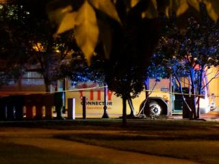 A chemical explosion did little damage to a Durham bus Tuesday night.