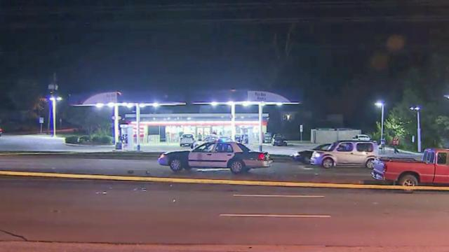 A woman was killed Tuesday night when she was hit by a truck on South Saunders Street in Raleigh.
