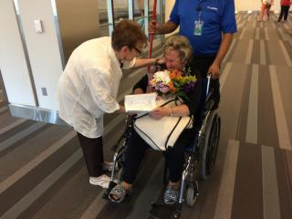 Sisters Deva Buttram and Nancy Hansen were reunited on Wednesday after being separated while they were young and not seeing each other for 70 years. (Ken Smith/WRAL)