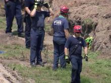 Man trapped in trench at Fort Bragg