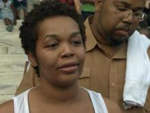 Masheka Carter says she wants to see justice served after someone shot her 7-year-old son, Kamari Jones, inside their home on Wednesday, July 23, 2014.