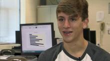 IMAGE: Green Hope's 'Excel master' taking part in international contest