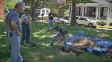 IMAGE: Archaeologists dig for original Edenton courthouse