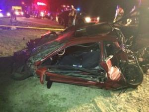One person was airlifted to a hospital Tuesday night after leading authorities on a vehicle pursuit and crashing near Lillington.