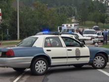 A man was taken into custody early Thursday after he allegedly crashed a stolen vehicle into a van near the intersection of Walnut Street and Dillard Drive in Cary, police said.