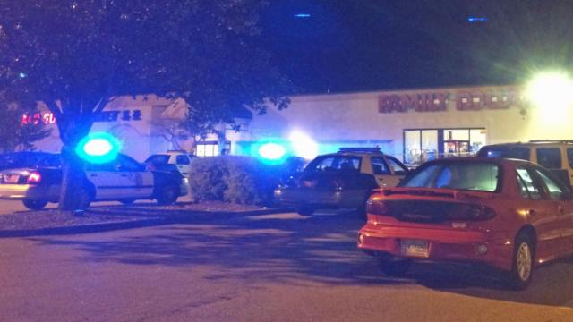Police are investigating the robbery of a Family Dollar on Wilmington Street Sunday night. (Submitted by Dwayne Daughtry)