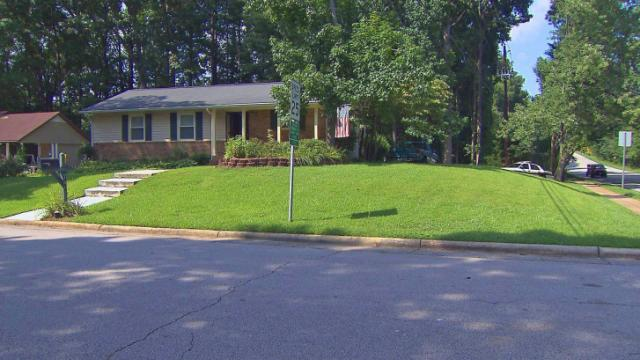 Cary police said two girls were home when a man kicked down their back door Tuesday afternoon.