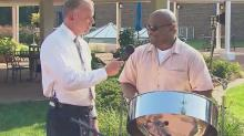 Sound of steel drums gives SandDesk that island feel