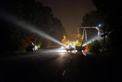 Martin Luther King Jr. Boulevard between Critz Drive and Piney Mountain Road in Chapel Hill was closed in both directions Thursday night after a tree knocked power lines onto the road.