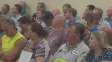 Harnett County residents at gun ordinance meeting
