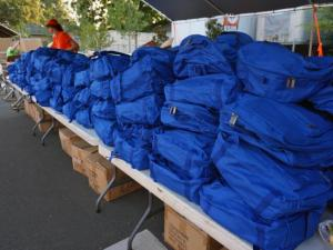 The Durham Rescue Mission will giveaway more than 3,600 backpacks on Thursday, Aug. 21, 2014, at its 15th annual back-to-school party.