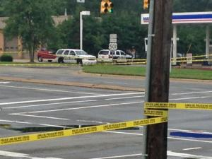 An unidentified man was killed early Saturday when shots were fired into an SUV near the intersection of North Duke Street and Horton Road, Durham police said.
