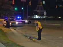 An unidentified woman was injured late Wednesday after being hit by a car in Fayetteville, police said.