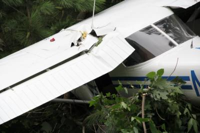 A pilot was taken to the hospital with minor injuries late Thursday after a small aircraft went down on Krogen Court in Brassfield, Granville County authorities said.