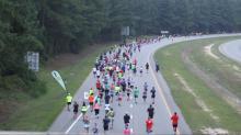 IMAGE: Gastonia woman wins inaugural Fayetteville half marathon