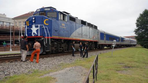 Durham police respond to a Sept. 9, 2014, pedestrian death on the railroad tracks between Roxboro and Dillard streets.