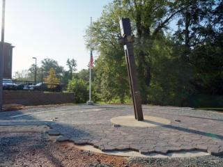 The Chatham County First Responders' Memorial is located in Pittsboro. It includes a 19-foot-long beam from the North Tower of the World Trade Center.