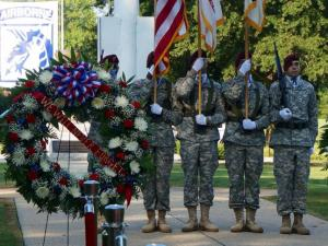 A Fort Bragg ceremony honors 9/11 victims on Sept. 11, 2014.