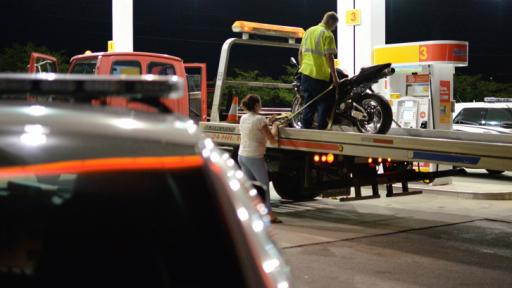 Authorities were involved in a vehicle pursuit with a motorcycle Thursday night that started in Durham and ended in Morrisville. (Adam Owens/WRAL)