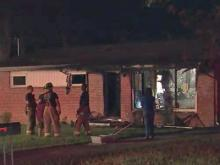 Fire destroyed a home Friday night in the 800 block of Beverly Drive in Raleigh.