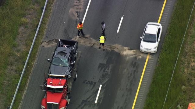 A rocking chair in the road caused an accident Tuesday afternoon on U.S. Highway 1 in western Wake County.