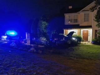 Two people were taken to WakeMed early Wednesday after a single-car wreck in the 4100 block of Fawn Glen Drive, Raleigh police said.