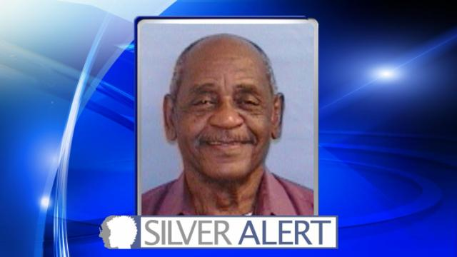 The North Carolina Center for Missing Persons issued a Silver Alert for George Washington at about 1 a.m. after he went missing from a home in the 1000 block of Madonna Drive.