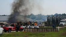 IMAGES: Fire at Moore County farm kills 4,200 hogs