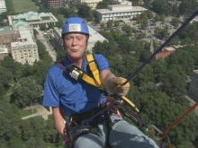 "Bill Leslie became the latest member of the WRAL staff to go ""Over the Edge"" for Special Olympics."