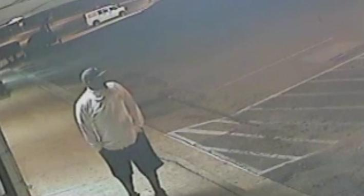 Cary police want to talk to this man about a gas station break-in on East Chatham Street.