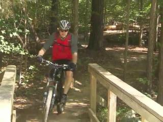 The bike and hike trails around Lake Crabtree County park are popular.