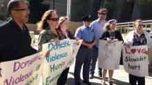 Domestic violence march and rally