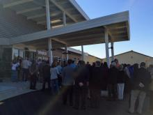 Officials celebrated the grand opening of the new terminal at the Johnston Regional Airport on Thursday, Oct. 1, 2014.