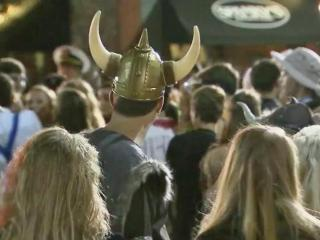 Thousands converged on Franklin Street for Halloween 2014.