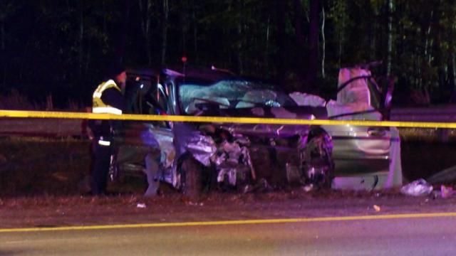 Two people were killed in a wreck on southbound Interstate 85 in Durham early on Nov. 3, 2014, when the vehicle they were in hit a guardrail.