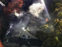 Firefighters respond Nov. 10, 2014, to a fire at Cambridge Apartments on Royal Anne Lane in Raleigh.