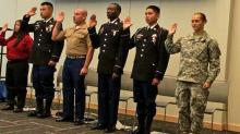 IMAGES: Military members take oath of citizenship on Veterans Day