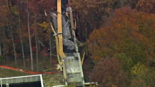 A pedestrian bridge under construction at the north Raleigh campus of Wake Technical Community College collapsed Thursday, Nov. 13, 2014.