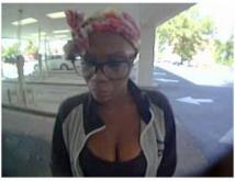 The Cumberland County Sheriff's Office asked for the public's help Wednesday to identify and locate a woman who is wanted for breaking into a vehicle and stealing a person's wallet while they attended church services.