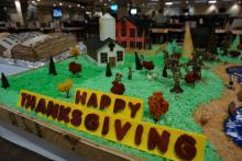 Thanksgiving dinner preparations were underway at Fort Bragg on Tuesday, Nov. 25, 2014.