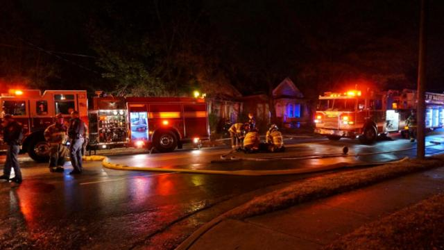 Fire damaged a house on South Saunders Street near Dorothea Drive shortly before 1 a.m. on Nov. 27.