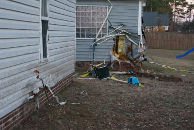 A driver crashed through a fence and into the backyards of several homes on Crystal Springs Road in Fayetteville Monday afternoon.