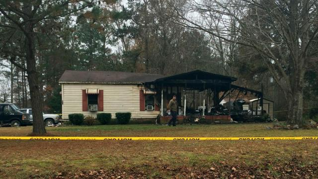 Two people were killed in a Dec. 3, 2014, fire at a home on Davie School Road near Roanoke Rapids. (Photo by Kathryn Brown)