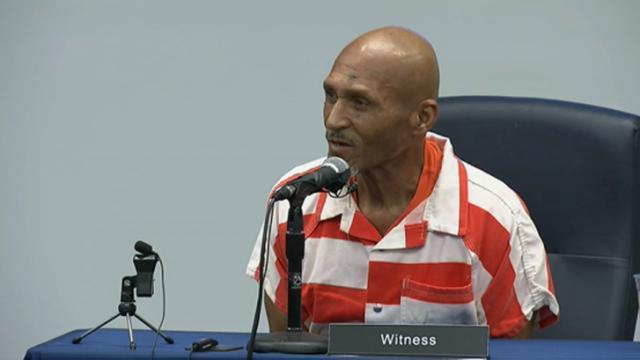 Joseph Sledge testifies Dec. 5, 2014, before the North Carolina Innocence Inquiry Commission.