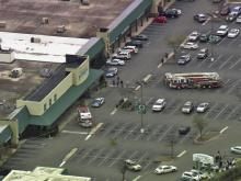 Stores in Raleigh's Ridgewood Shopping Center were evacuated Friday afternoon after a gas leak was reported on a nearby service road.