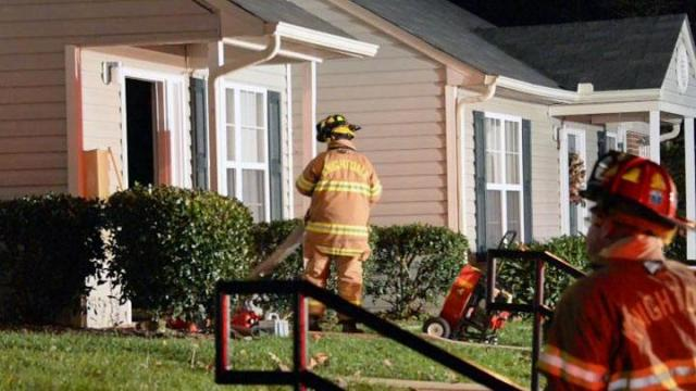 Two adults and four children under 10 were displaced from their Knightdale home late Friday after a fire started in a dryer, authorities said.