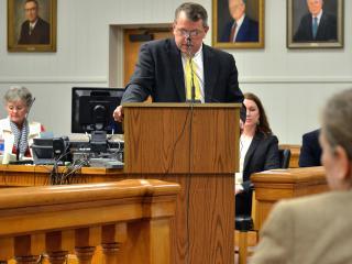 Lee County Manager John Crumpton says the county was set up regarding coal ash. (Adam Owens/WRAL)