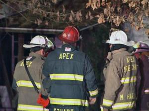 Fire did heavy damage early Tuesday to a home in western Cary, Apex Fire Department officials said.